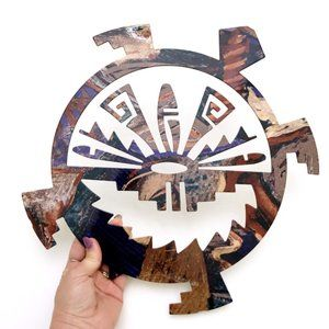 AZTEC Indian Abstract Tribal Wall Metal Decor